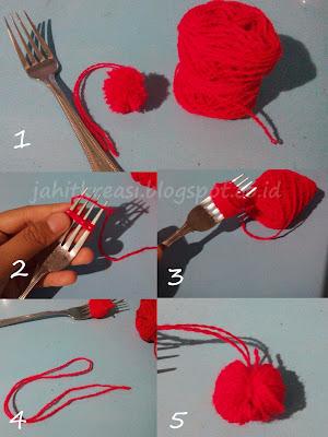 Cara Membuat Pom Pom Lucu Mudah