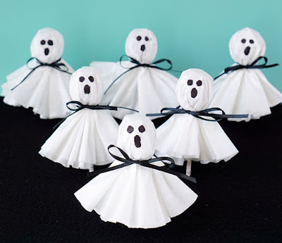 coffee filter ghost pops