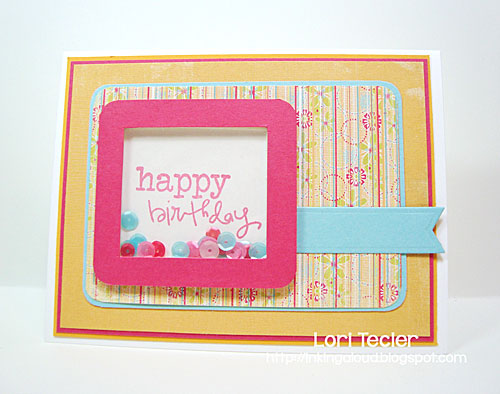Bright Birthday Shaker card-designed by Lori Tecler/Inking Aloud-stamps from Verve Stamps