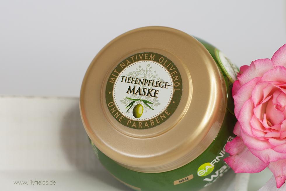 Foto zeigt Garnier Wahre Schätze Mythische Olive Tiefenpflege-Maske
