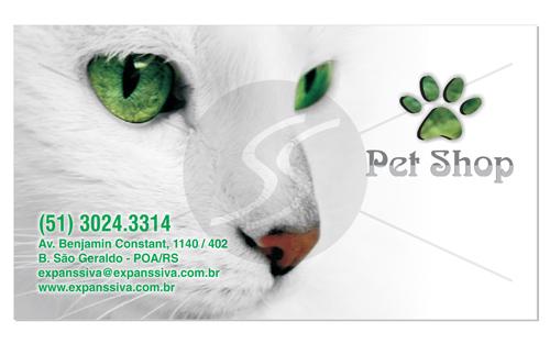 Modelos Cartões de Visita Pet Shop