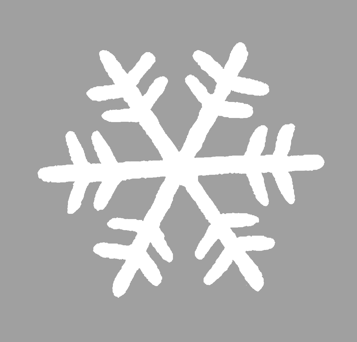 The Graphics Monarch Digital Snowflake Cutout Silhouette
