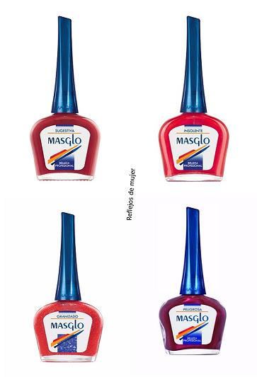 Esmaltes rojos Masglo