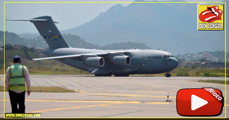 Avión de la Fuerza Aérea de EEUU aterrizó en Maiquetía
