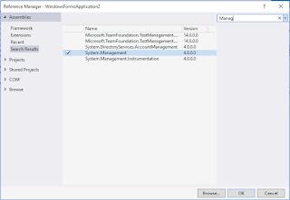C# Managment hatası görsel