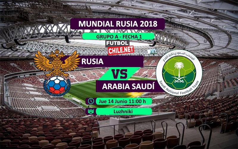Rusia vs Arabia Saudita por el Mundial Rusia 2018
