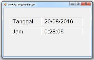 Cara Memunculkan Tanggal dan Jam Pada Form VB .Net