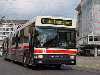 Un bus de Saint-Gall