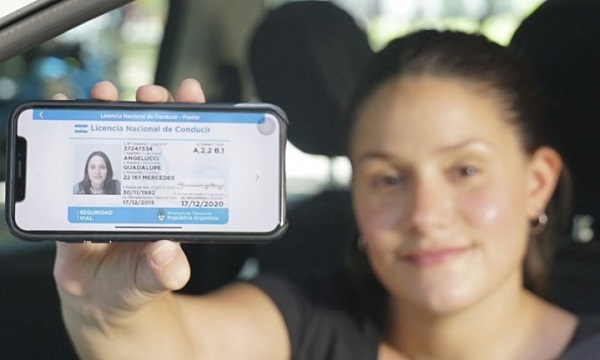 Licencia de conducir digital Argentina