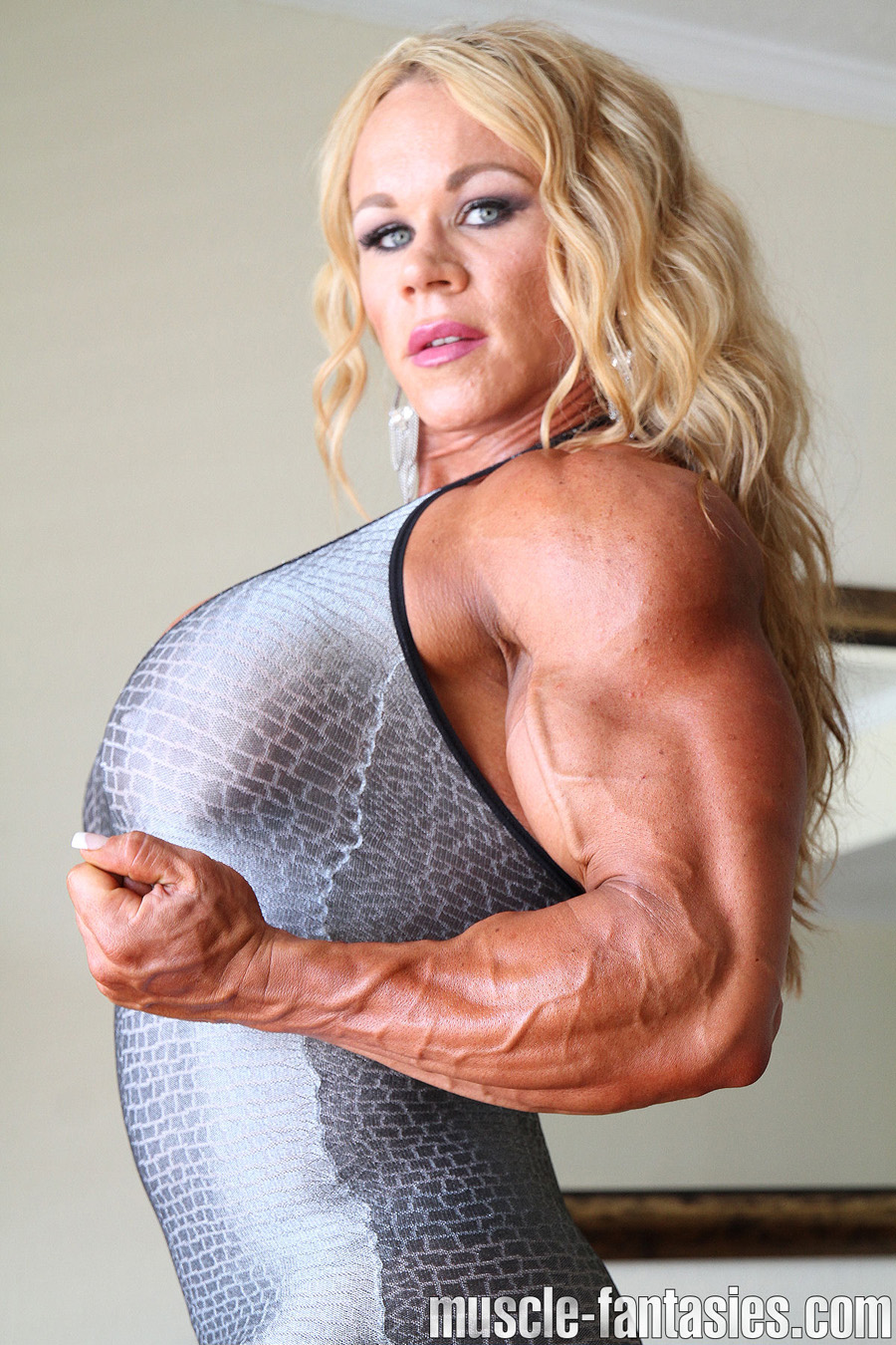 Female Bodybuilder Aleesha Young - Photo by Muscle Fantasies