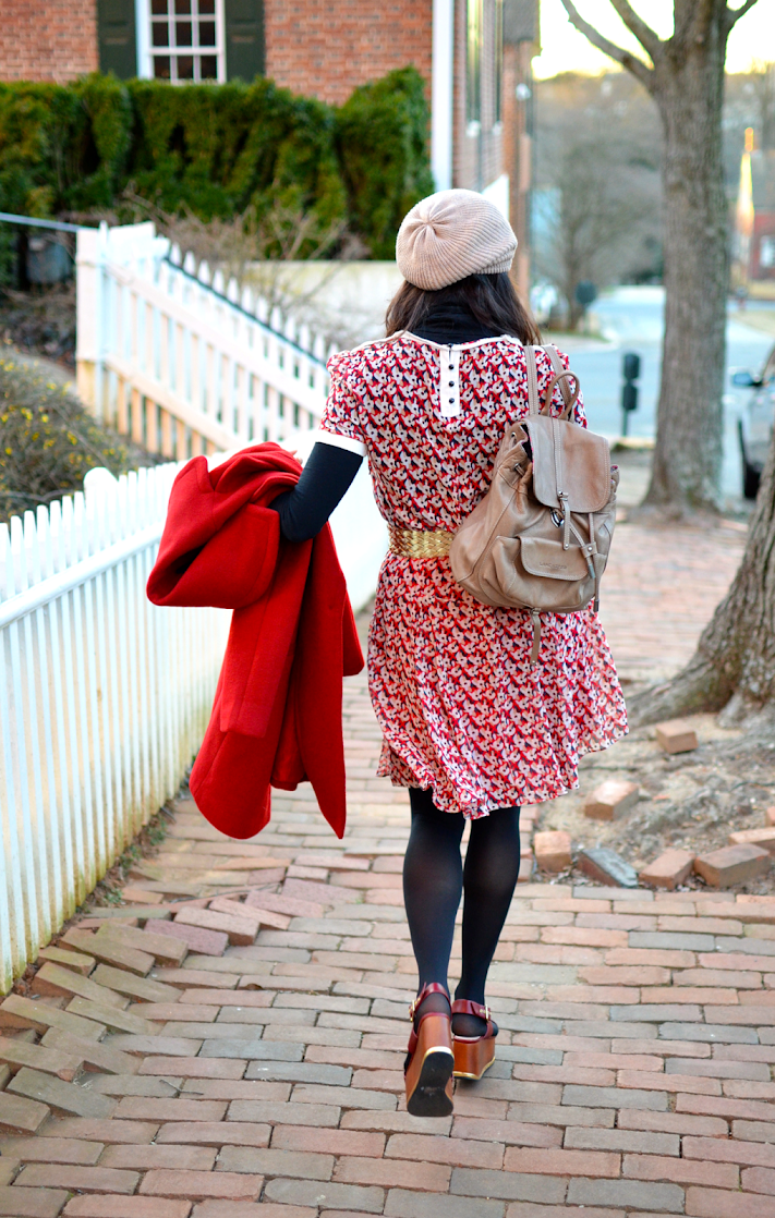 All red outfit street style