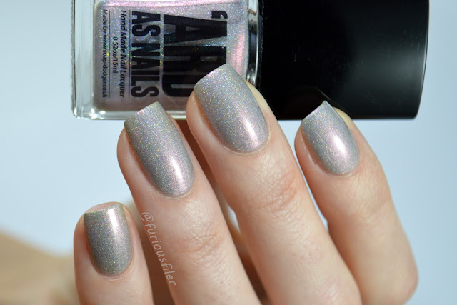 ard as nails chelle swatch silver duochrome holographic