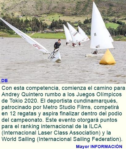 Andrey quintero busca el podio en el campeonato Centro-sudamericano de Vela
