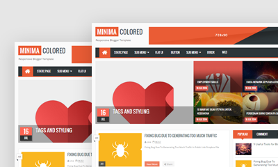 Minima Colored Blogger Template