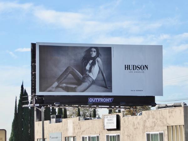 Kaia Gerber Hudson Jeans FW17 billboard