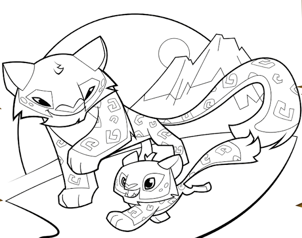 Animal jam fox drawings for Animal jam arctic wolf coloring pages