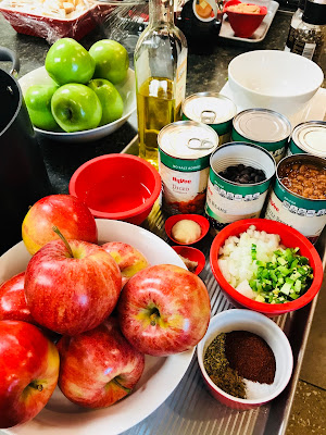 Apples and Ingredients for Chili