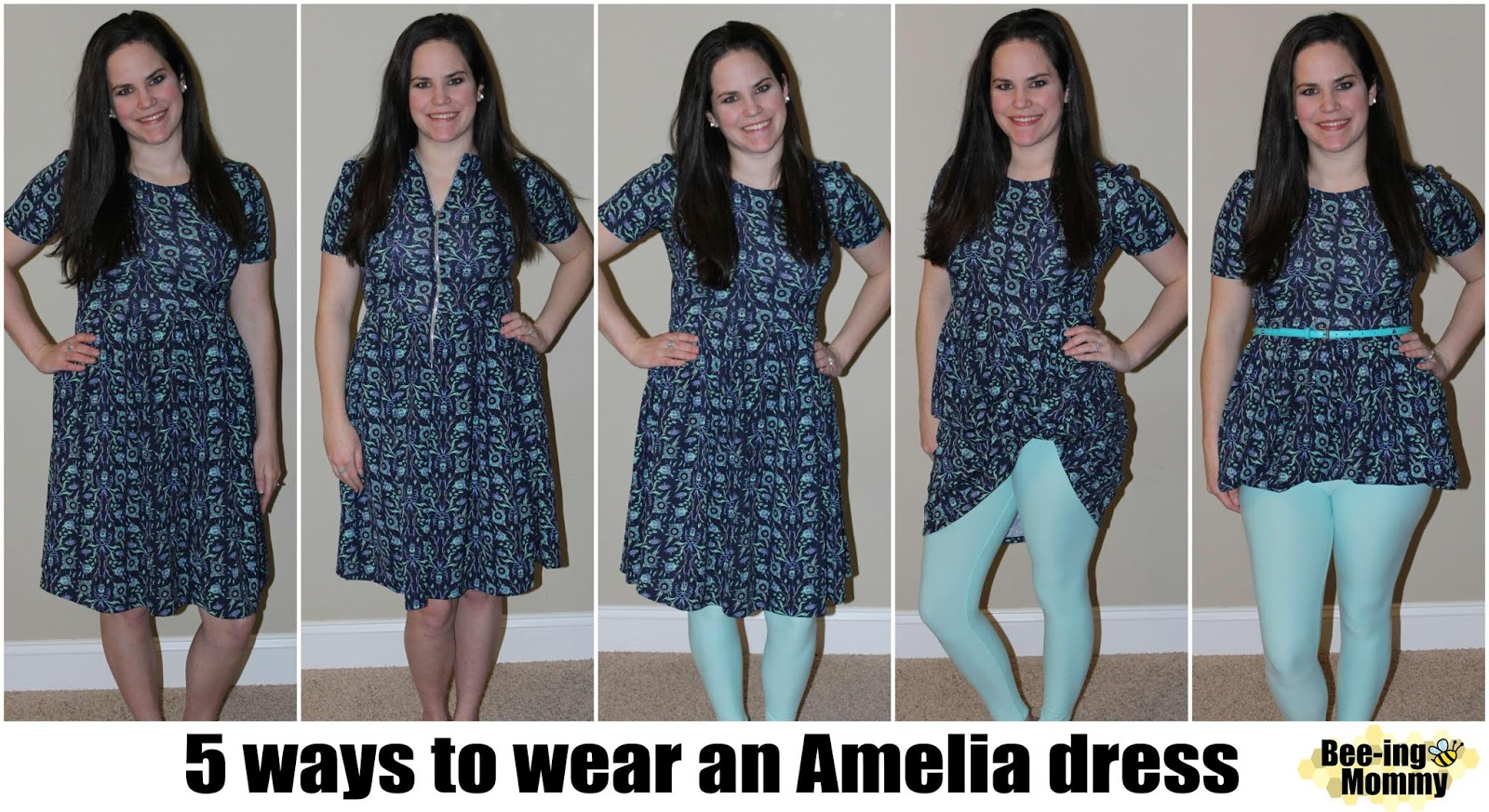 74a795915ce LulaRoe Part 5  Dresses - different ways to style Amelia