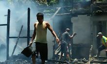 Di Tinggal Panen Padi, Satu Rumah di Nanga Mahap Terbakar