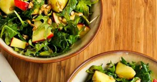 ... Raw Baby Kale Salad with Apples, Sunflower Seeds, and Lemon-Dijon