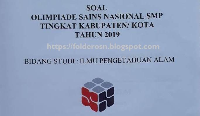 Soal OSN IPA SMP 2019