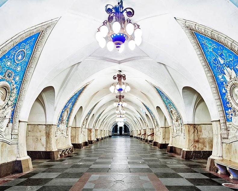 La belleza de las estaciones de metro de Rusia