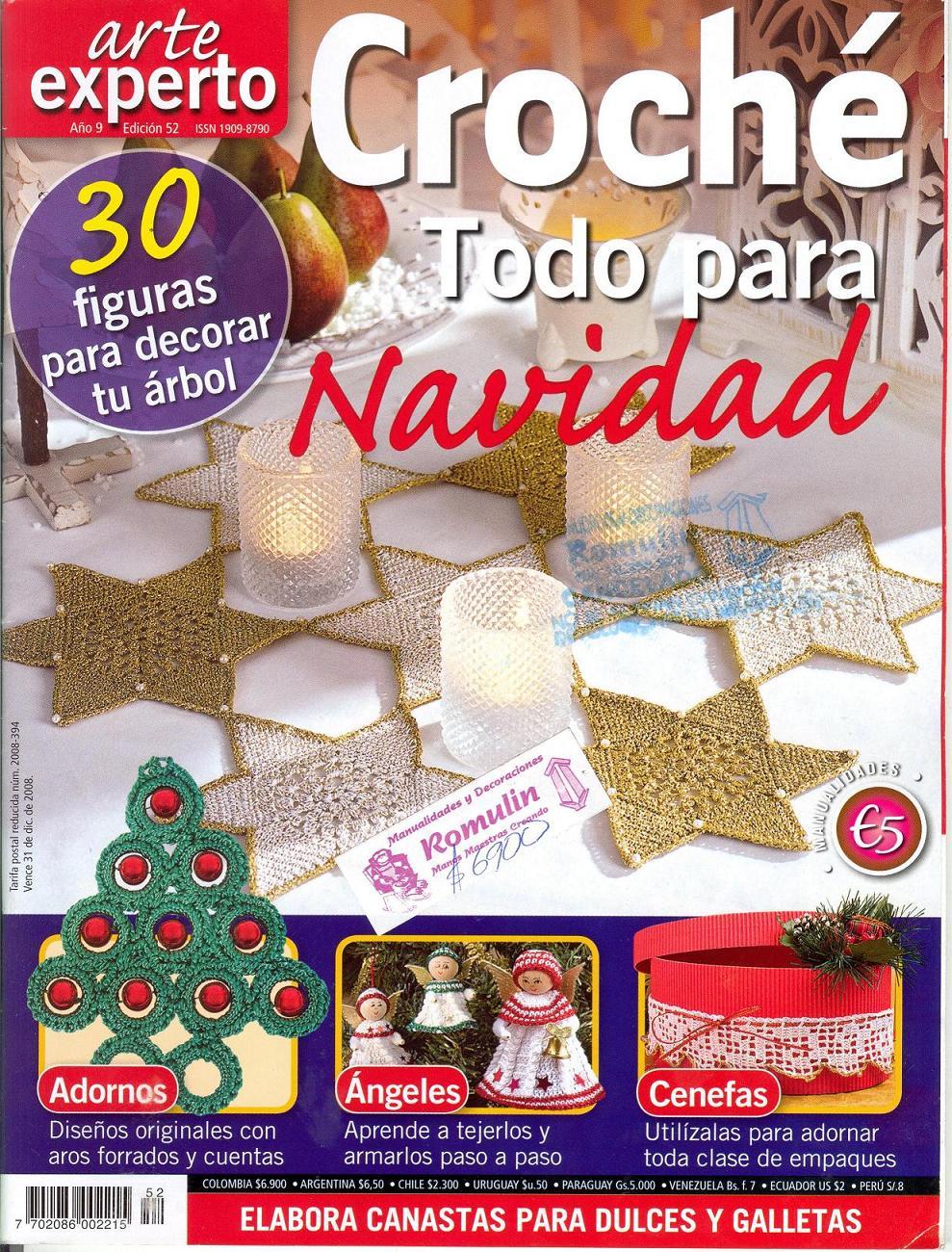 Dorable Patrón De Crochet Navidad Bosquejo - Manta de Tejer Patrón ...