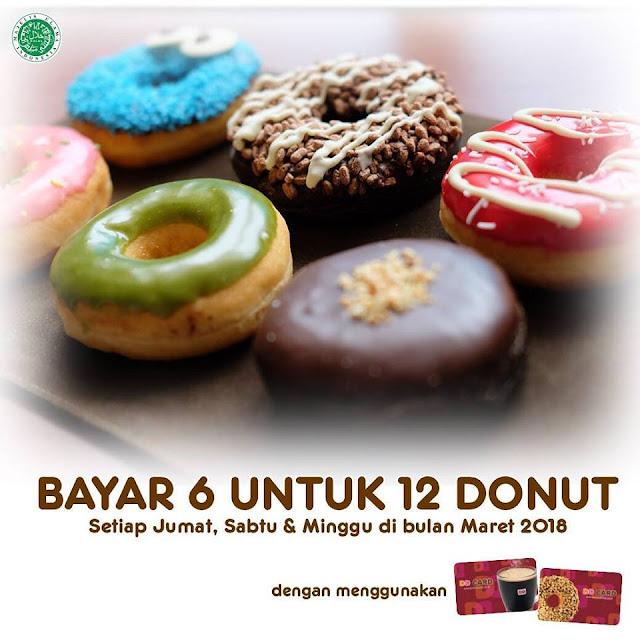 Promo DUNKIN DONUTS Terbaru BUY 6 FREE 6 Donuts Setiap Akhir Pekan
