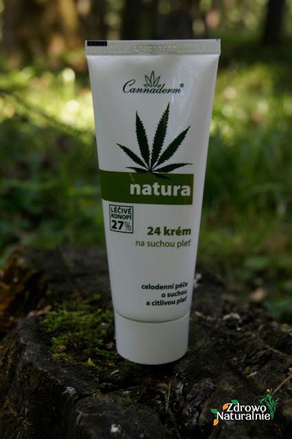 Cannaderm - Natura 24 - Krem do pielęgnacji suchej i wrażliwej skóry twarzy oraz szyi