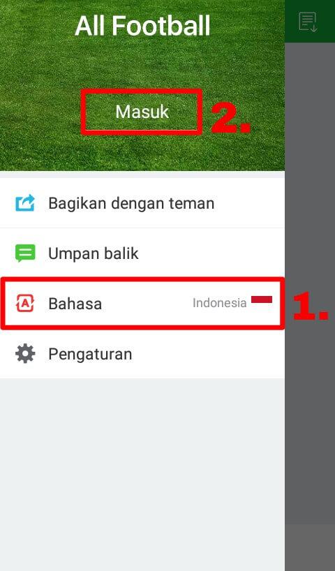 """Ubah Bahasa Indonesia ke Internasional (EN) dan pilih """"Masuk""""."""
