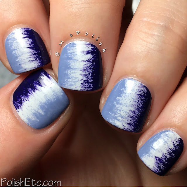 Purple fan brush mani - #31DC2016Weekly - McPolish - P2 Cosmetics