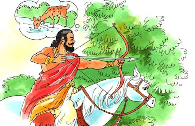 indian king hunting in forest shikar