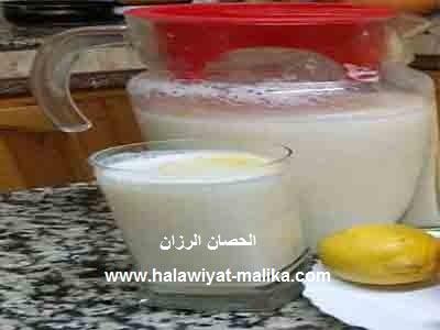 عصير الليمون بالحليب والياغورت
