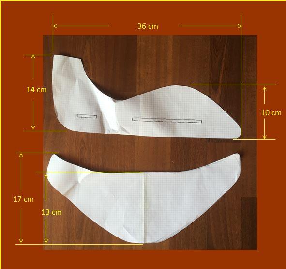 Plantilla en papel con medidas para realizar un avion de poliespan