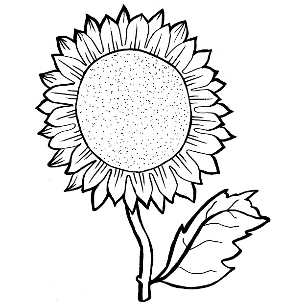 Sunflower Coloring Pages With Sunflower Coloring