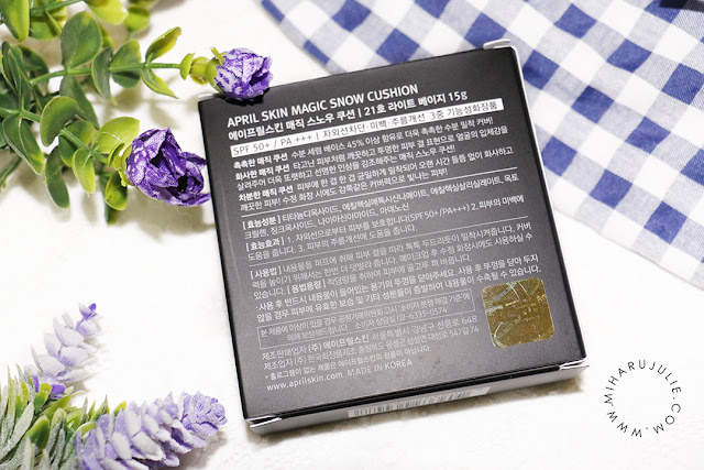 Review April Skin Magic Snow Cushion 21 light Beige