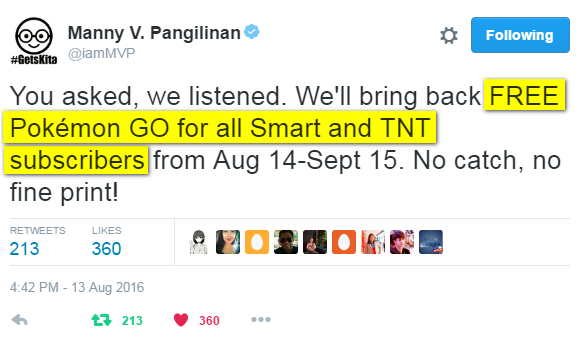 Free PokeMon Go Smart TNT