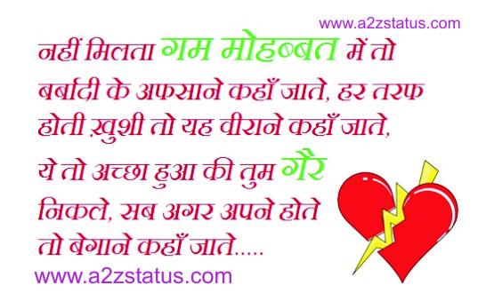 A to Z Status: Said Shayari