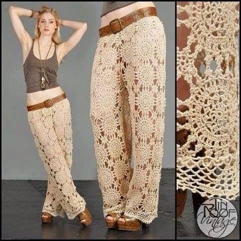 Pantalón a Crochet