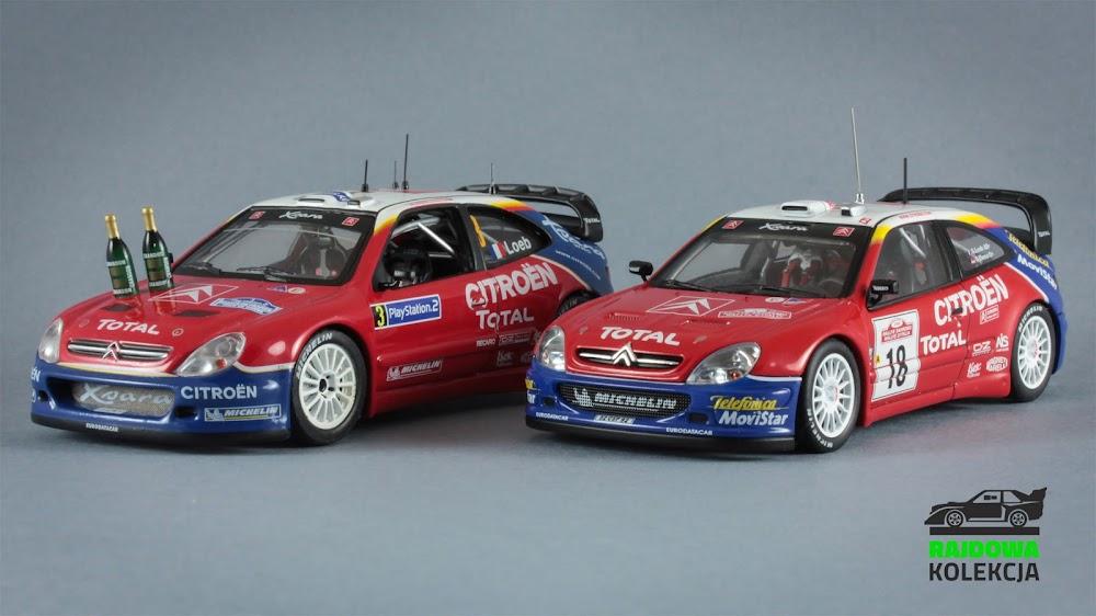 Porównanie modeli Citroen Xsara WRC w wykonaniu IXO i AUTOart