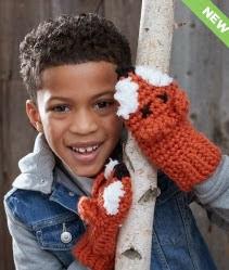 http://www.yarnspirations.com/pattern/crochet/fox-mittens