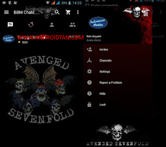 Free Download BBM Mod Apk Avenged Sevenfold A7X v3.2.0.311 Android Terbaru 2017 Gratis