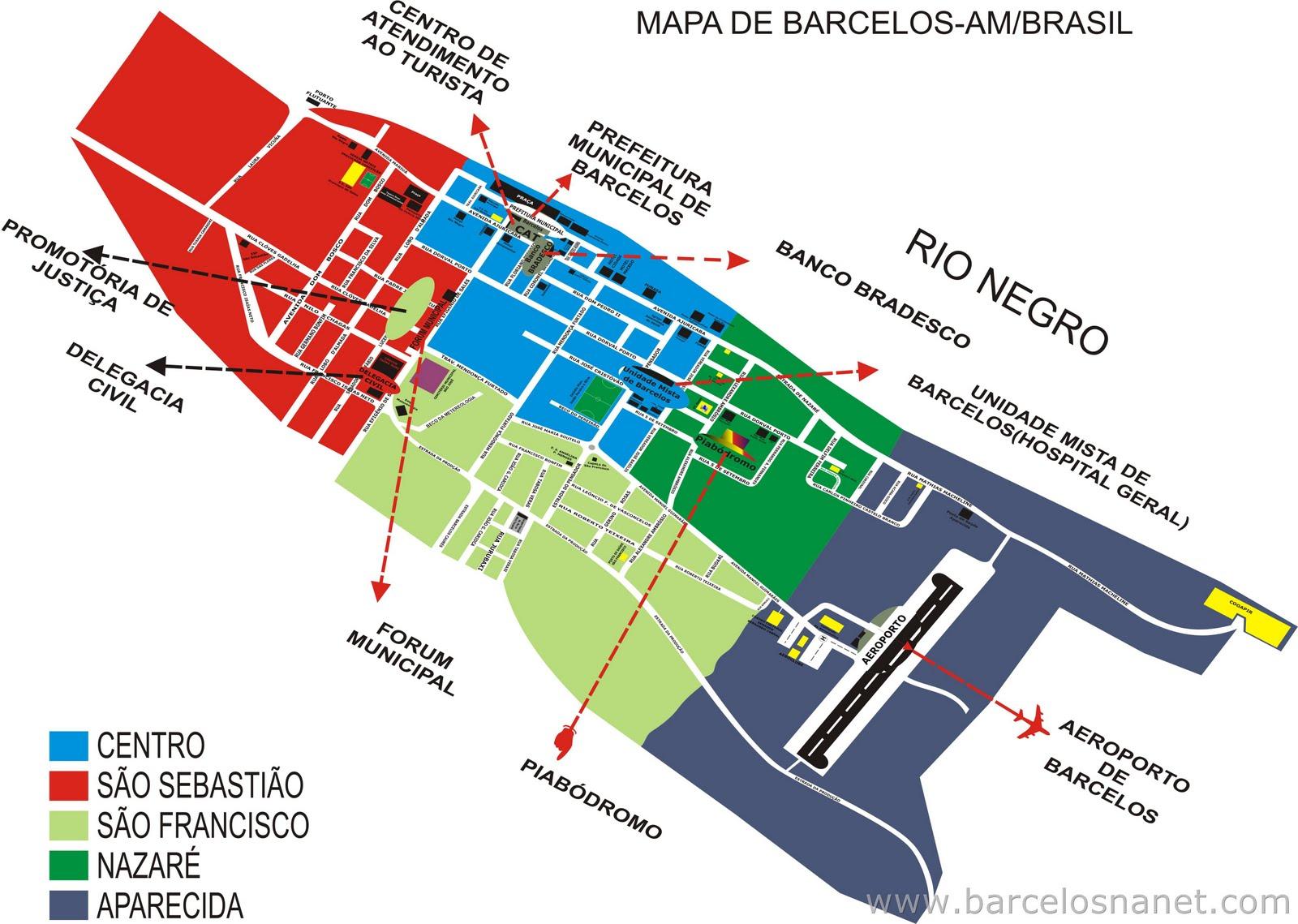 mapa das ruas de barcelos Mapa de Barcelos AM   Blog do Rio Negro   Amazonas mapa das ruas de barcelos