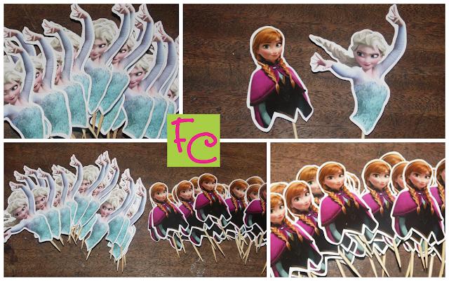Topper em Recorte - Anna - Elsa - Tema Frozen