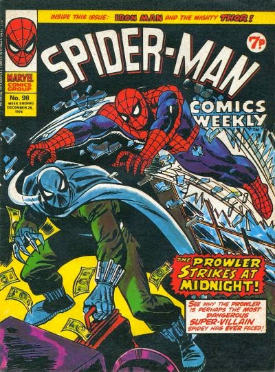 Spider-Man Comics Weekly #98, The Prowler