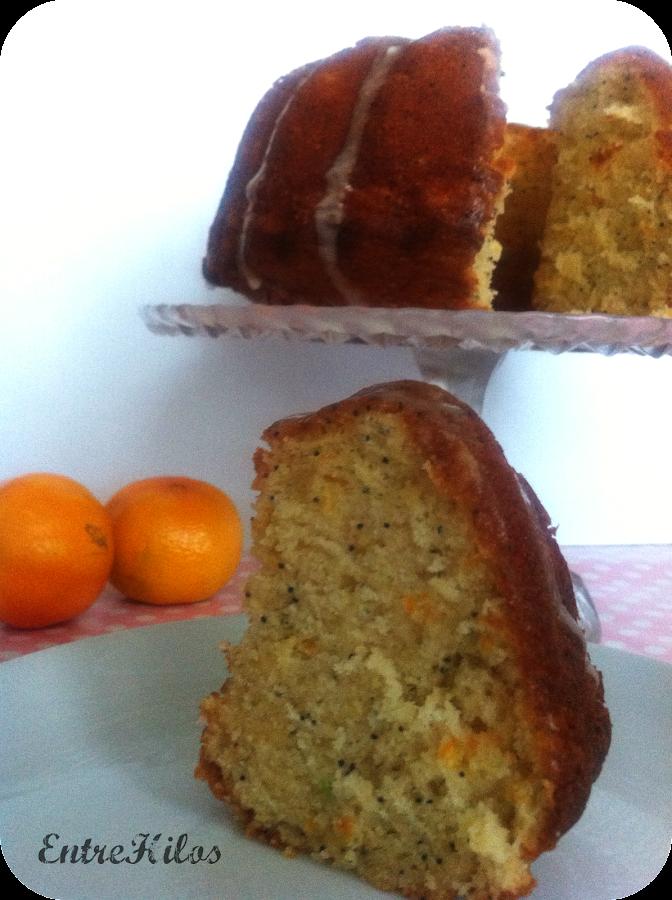 bundt cake de mandarinas y semillas de amapola