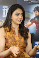Rakul Preet Singh smiling Beautyin Brown Deep neck Sleeveless Gown at her interview 2.8.17 ~  Exclusive Celebrities Galleries 142.JPG