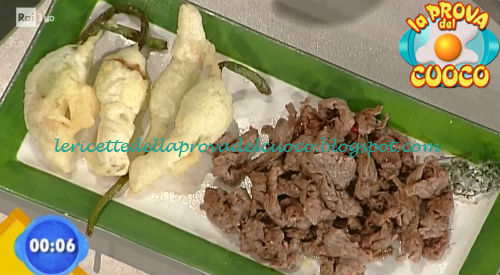 Straccetti al timo con fiori di zucca ripieni ricetta Salvatori da Prova del Cuoco