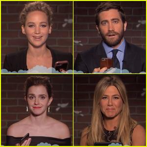 Mean Tweets is back with Jennifer Aniston, Jennifer Lawrence, Emma Watson, Gal Gadat, etc