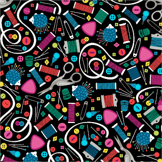 Sew Much Fun Haberdashery from Studio E - a quality cotton fabric for dressmaking, buy from More Sewing